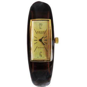 ZENO Watch Swiss Lucite 1970's Bangle Honey Amber
